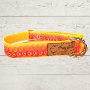 Sunset Waves Dog Collar