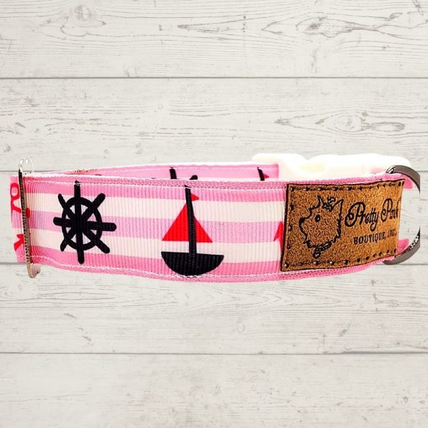Ships Ahoy Dog Collar